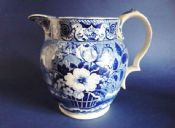 Excellent Condition James and Ralph Clews 'Basket and Vase' Floral Pattern Jug c1825